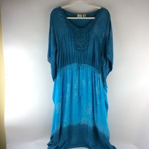 Cato woman plus size 18/20w boho dress ombré blue
